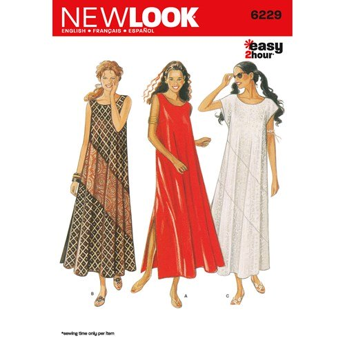 New Look Pattern 6229 Misses Dresses