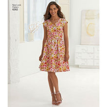 Load image into Gallery viewer, New Look Pattern 6262 Misses' Dress with Neckline Variations