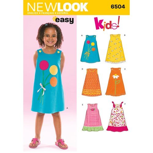 New Look Pattern 6504 Child Dresses