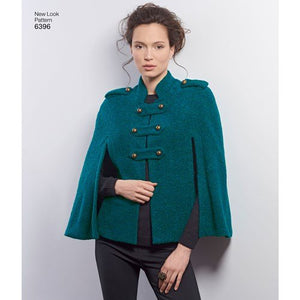 New Look Pattern 6396 Misses' Capes and Capelets