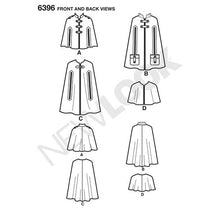 Load image into Gallery viewer, New Look Pattern 6396 Misses' Capes and Capelets