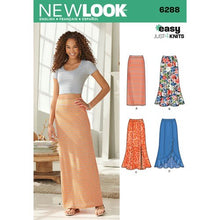 Load image into Gallery viewer, New Look Pattern 6288 Misses' Pull on Knit Skirts
