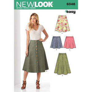 New Look Pattern 6346 Misses' Easy Skirts in Three Lengths