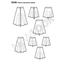 Load image into Gallery viewer, New Look Pattern 6346 Misses' Easy Skirts in Three Lengths