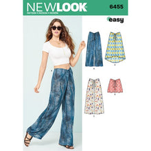 Load image into Gallery viewer, New Look Pattern 6455 Misses' Tie Front Pants, Shorts and Skirts