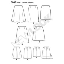 Load image into Gallery viewer, New Look Pattern 6843 Misses' Skirts