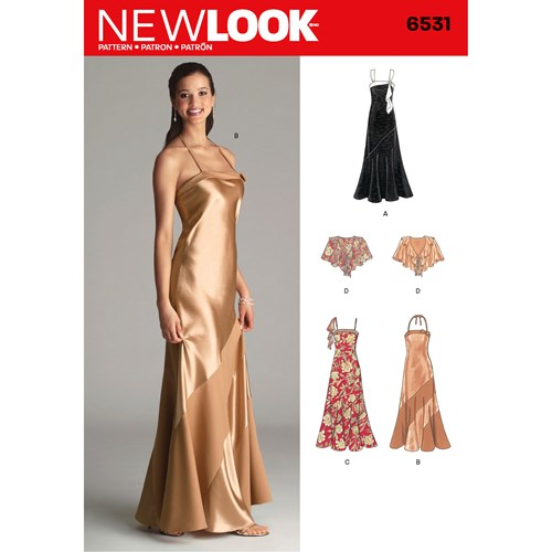 New Look Pattern 6531 Misses Special Occasion Dresses