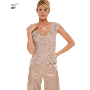 New Look Pattern 6558 Misses' Special Occasion Separates