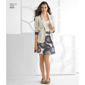 New Look Pattern 6035 Misses' Separates