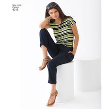 Load image into Gallery viewer, New Look Pattern 6216 Misses' Knit Tops and Pants