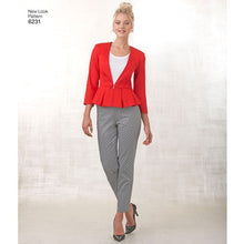 Load image into Gallery viewer, New Look Pattern 6231 Misses' Skirt, Pants & Peplum Jackets