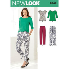 Load image into Gallery viewer, New Look Pattern 6246 Misses' Tapered Ankle Pant and Knit Top