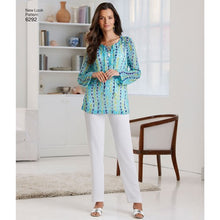 Load image into Gallery viewer, New Look Pattern 6292 Misses' Tunic or Top and Pull-on Pants