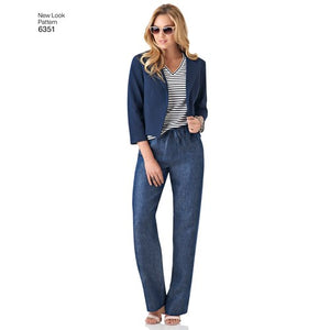 New Look Pattern 6351 Misses' Jacket, Pants, Skirt and Knit Top