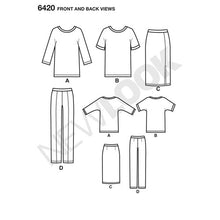 Load image into Gallery viewer, New Look Pattern 6420 Misses' Knit Skirt, Pants and Top