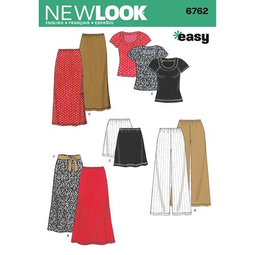 New Look Pattern 6762 Misses' Separates