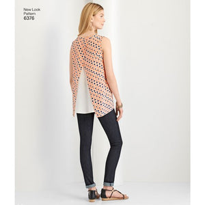 New Look Pattern 6376 Misses' Tops with Length Variations