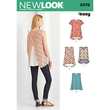 Load image into Gallery viewer, New Look Pattern 6376 Misses' Tops with Length Variations
