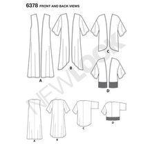 Load image into Gallery viewer, New Look Pattern 6378 Misses' Easy Kimonos with Length Variations