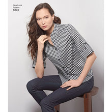 Load image into Gallery viewer, New Look Pattern 6394 Misses' Button Front Tops