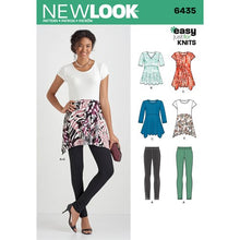 Load image into Gallery viewer, New Look Pattern 6435 Misses' Knit Leggings and Tunics
