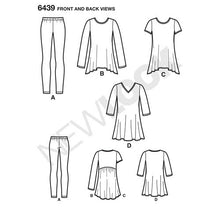 Load image into Gallery viewer, New Look Pattern 6439 Misses' Knit Tunics with Leggings