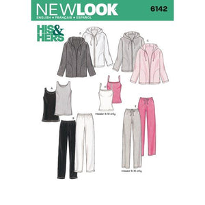 New Look Pattern 6142 Misses' & Men's Separates