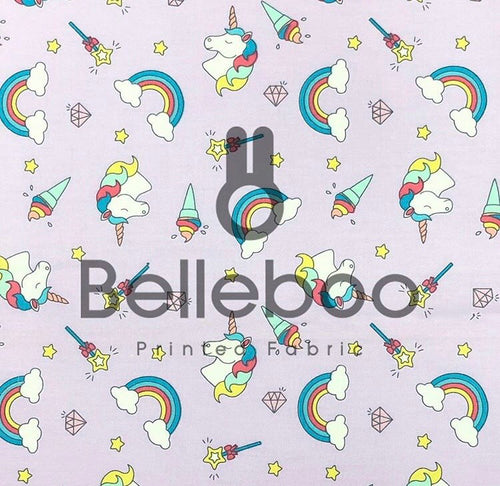 Rainbow Unicorn 100% Cotton Poplin Fabric