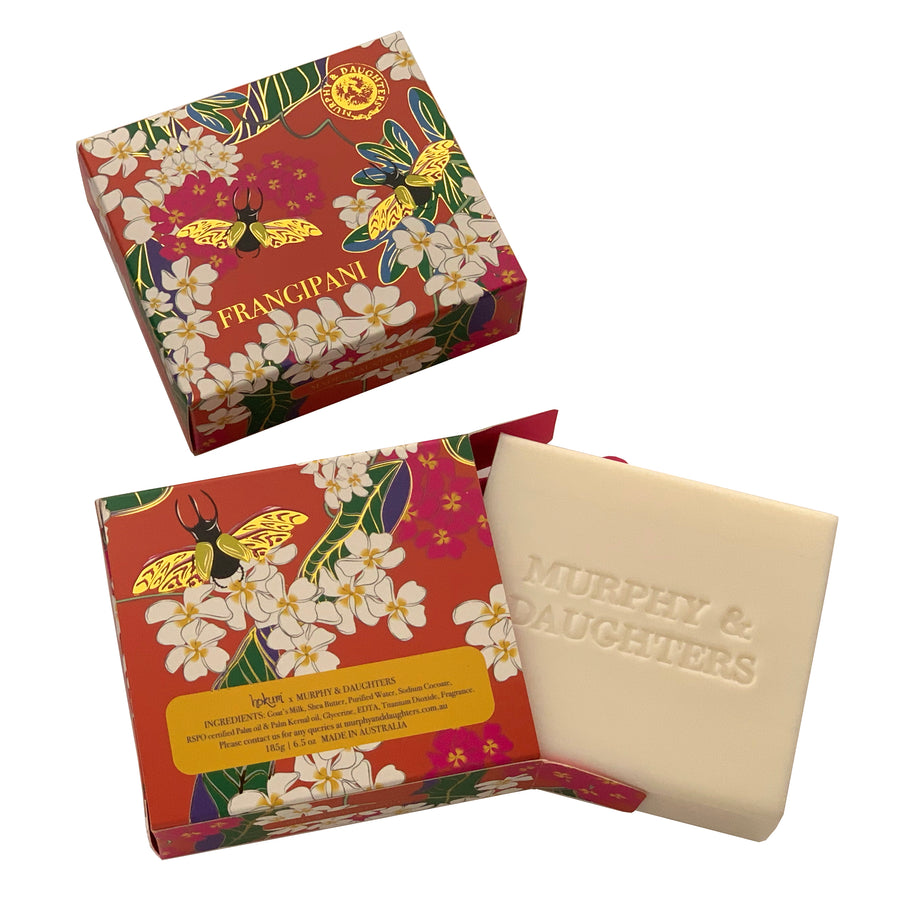 Boxed Frangipani soap - 185 grams
