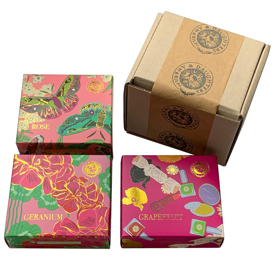 Boxed Soaps - pack of 3 x 185 grams