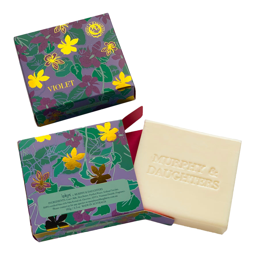 Boxed Violet Soap - 185 grams