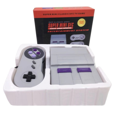 Super Mini Retrô Game (Super Classic Game 8 Bit) Com 2 Gamepads