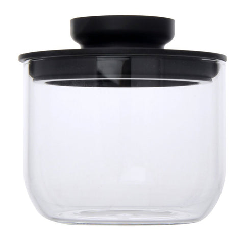 Airtight Glass Jars 500ml (Black) - Modern Collection