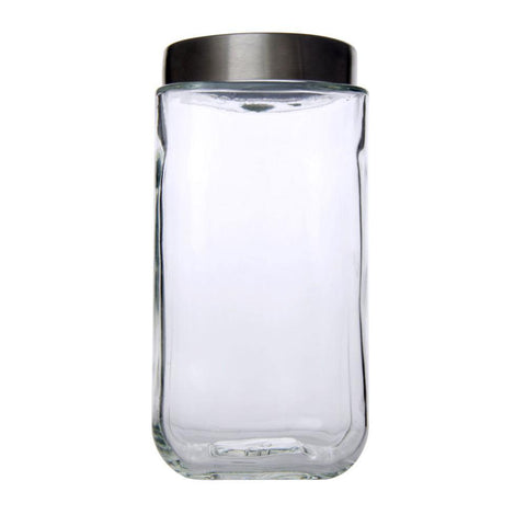 Classic Square Glass Jar 1100ml - Modern Collection