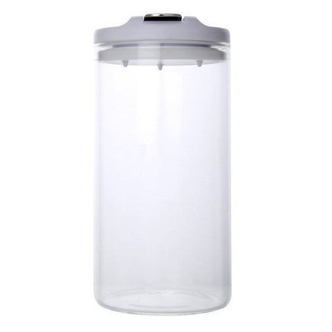 Airtight Borosilicate Glass Jar 1000ml (White) - Modern Collection