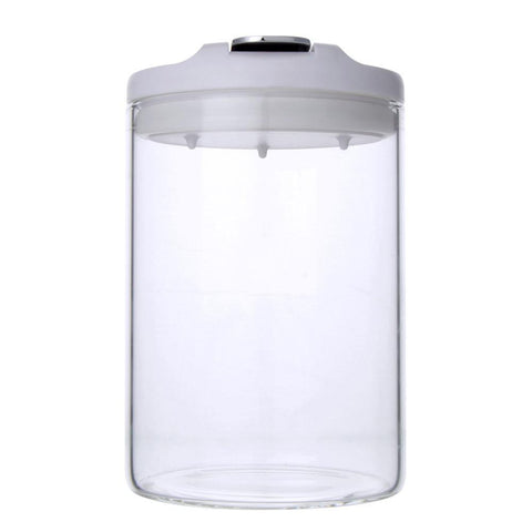 Airtight Borosilicate Glass Jar 600ml (White) - Modern Collection