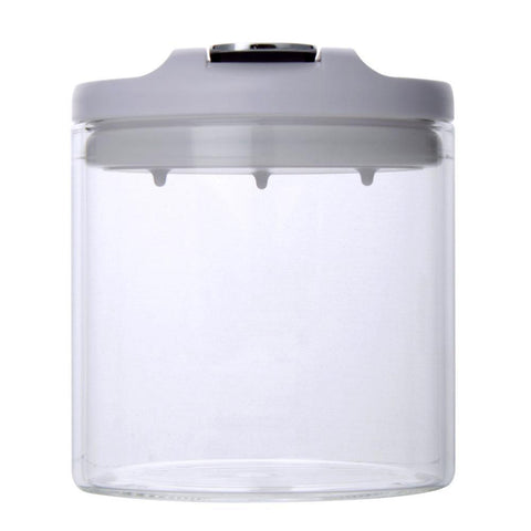 Airtight Borosilicate Glass Jar 400ml (White) - Modern Collection
