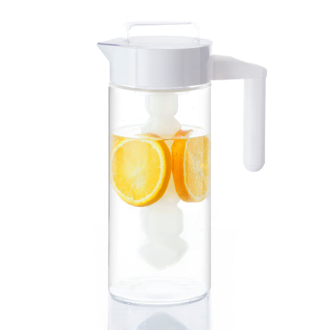 LocoCook Multipurpose Jar/Pitcher With Three Attachments 1300ml (White) - Modern Drinkware Collection