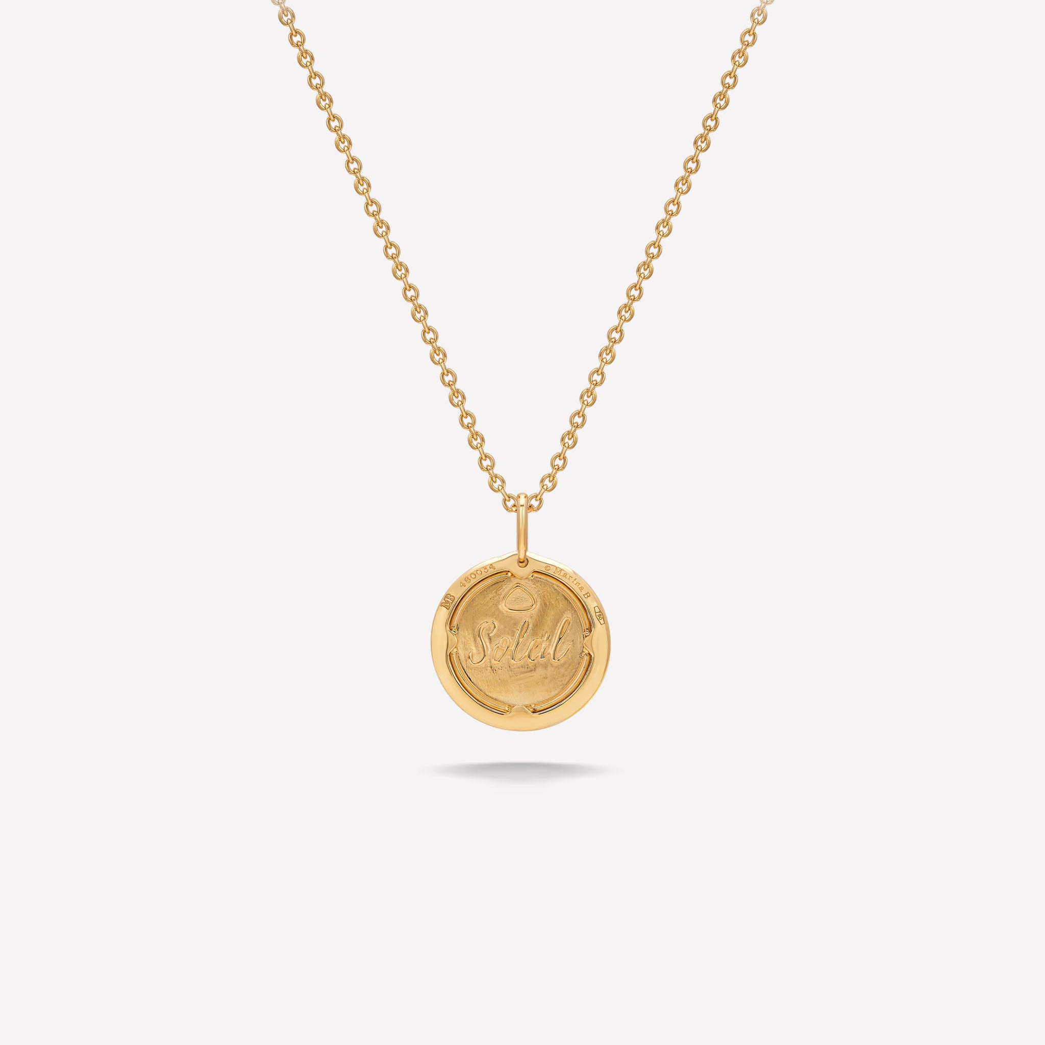 marinab.com, 18KYG 14mm Soleil Gold Diamond Pavé Pendant