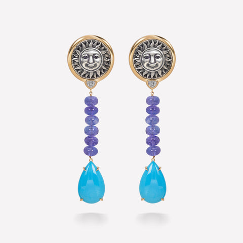 marinab.com, One of a kind Soleil Acme Earrings