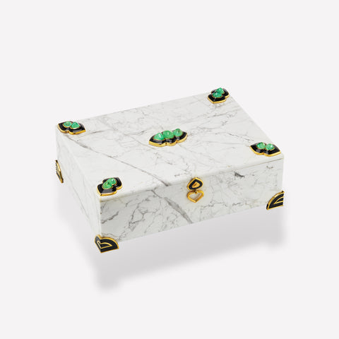 marinab.com, Muzo Emeralds & Howlite Big size Box