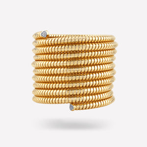 marinab.com, Trisolina 10 Row Pavé Diamond Cuff