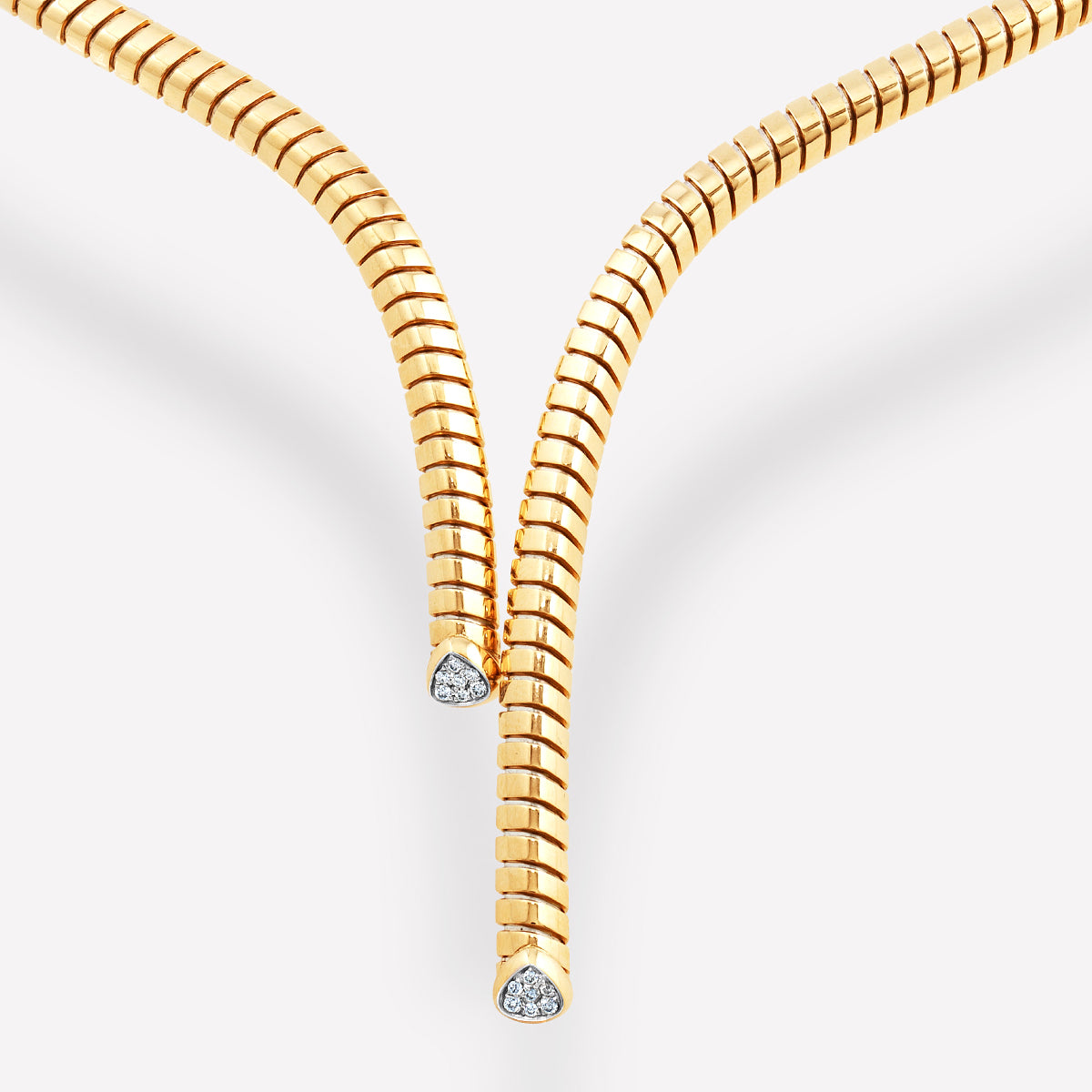 marinab.com, Trisolina Pavé Diamond Necklace