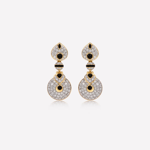 marinab.com, Baby Pneu Earrings with pave diamonds