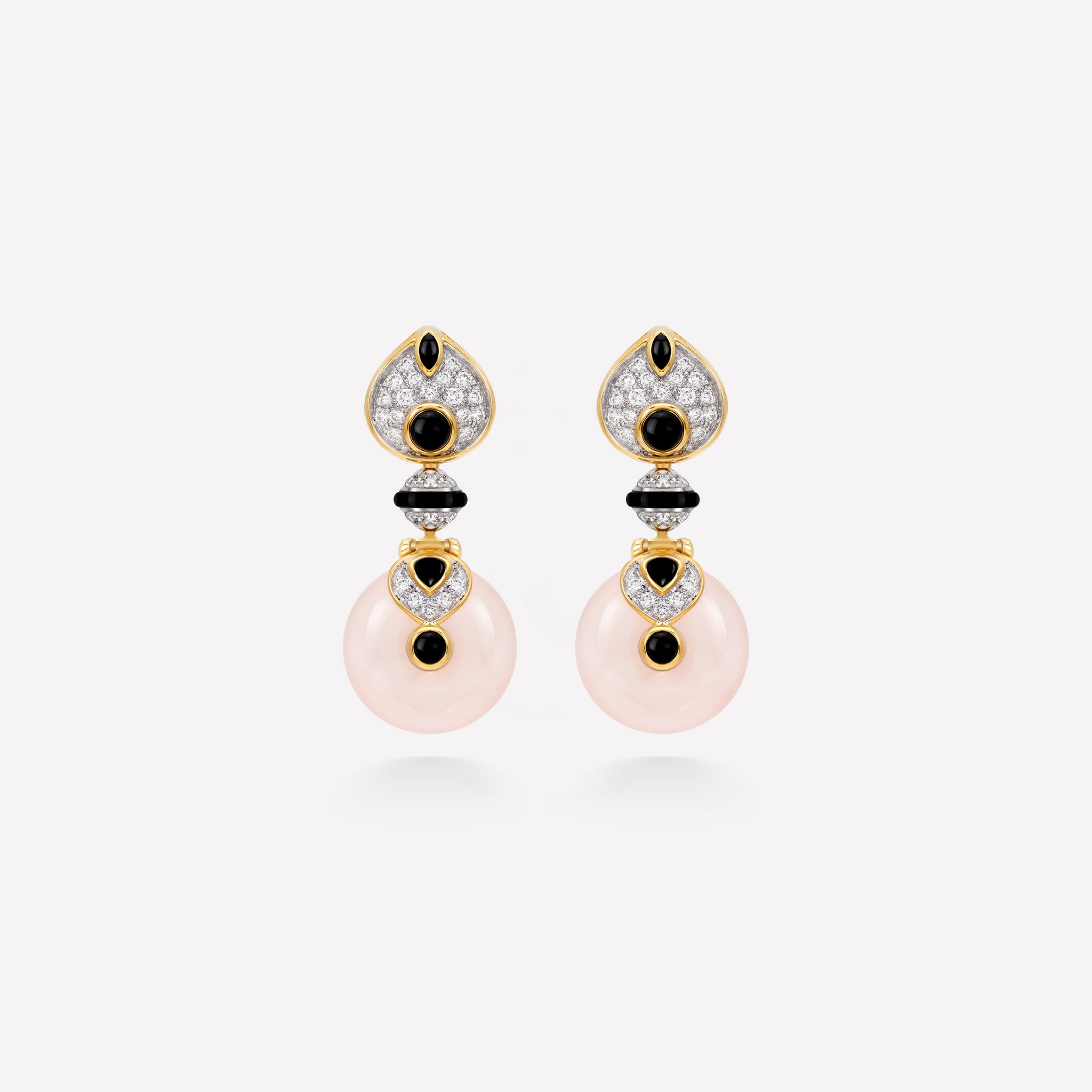 marinab.com, Baby Pneu Rose Quartz Earrings