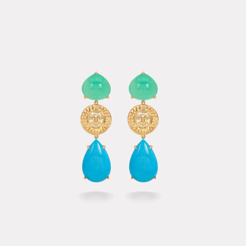 marinab.com, Soleil Limited Edition Rosa Earrings
