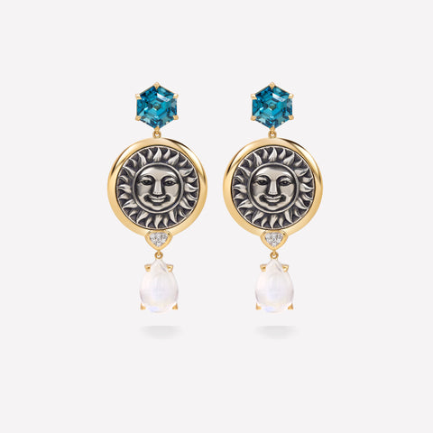 marinab.com, One of a kind Soleil Germana Earrings