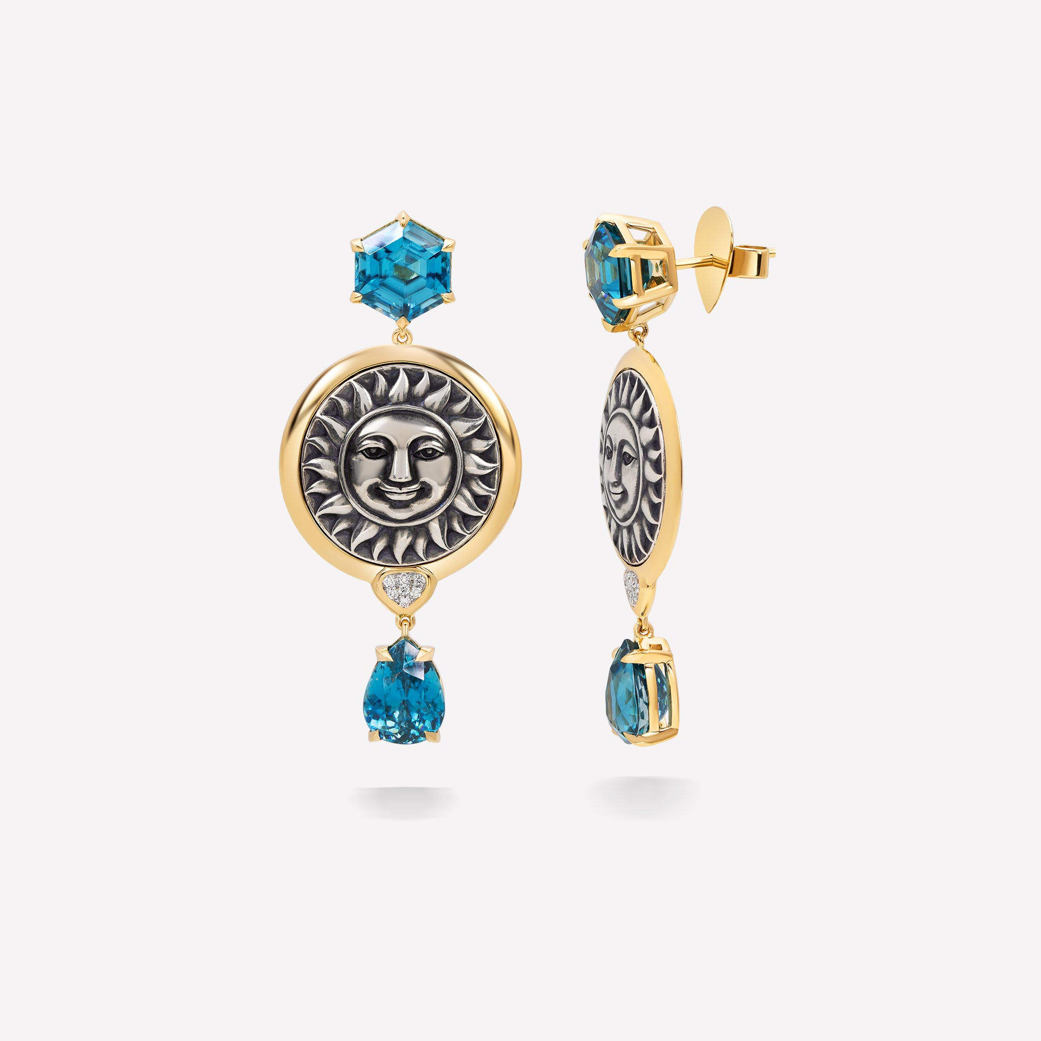 marinab.com, One of a kind Soleil Hortia Earrings