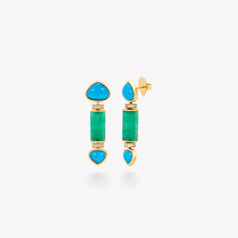 marinab.com, Muzo Emerald One of a Kind Eona Earrings
