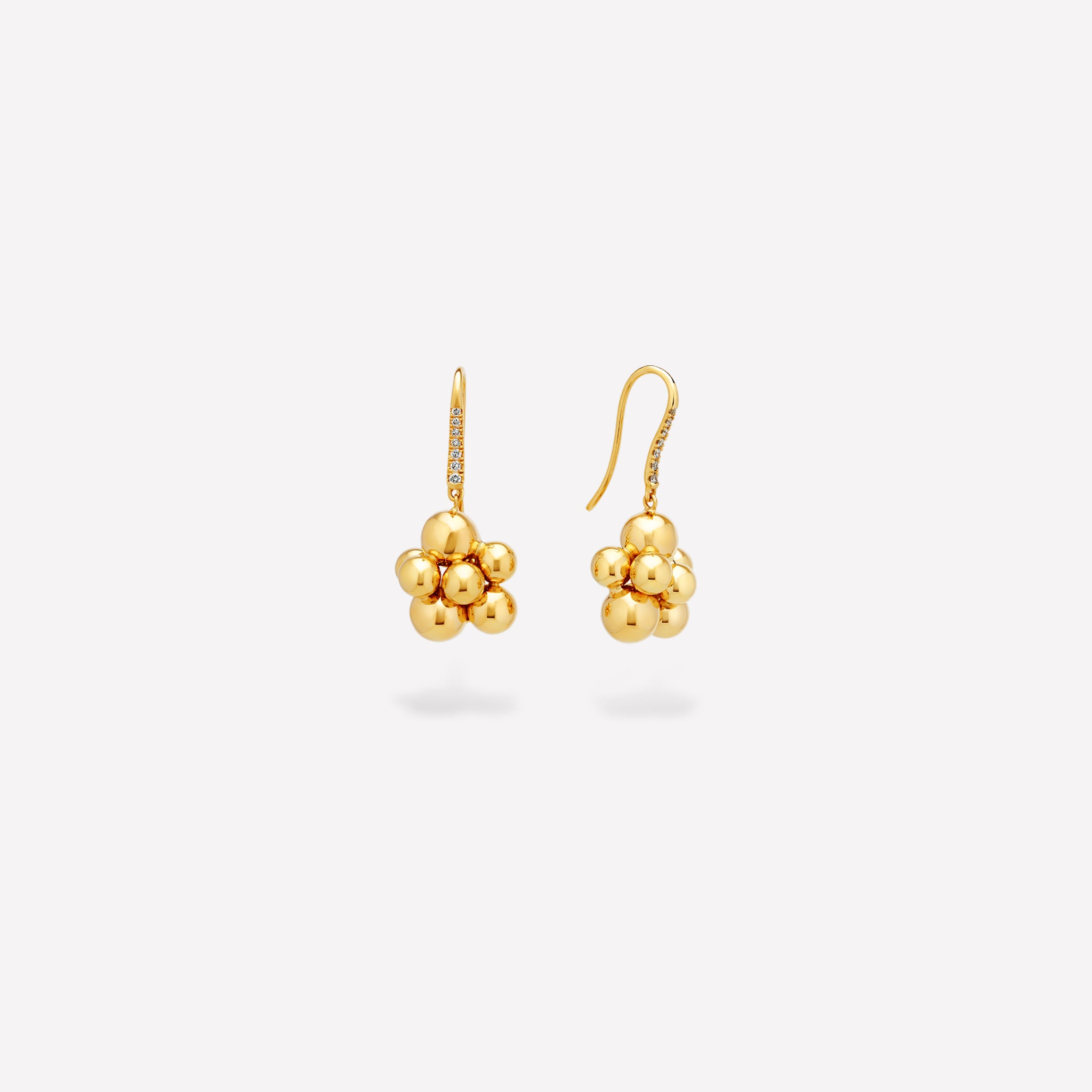 marinab.com, Mini Atomo Pavé Hook Earrings
